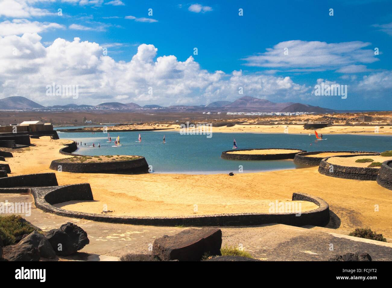 Sports and Leisure activities in La Santa Club in Tinajo municipality. Lanzarote island - Stock Image