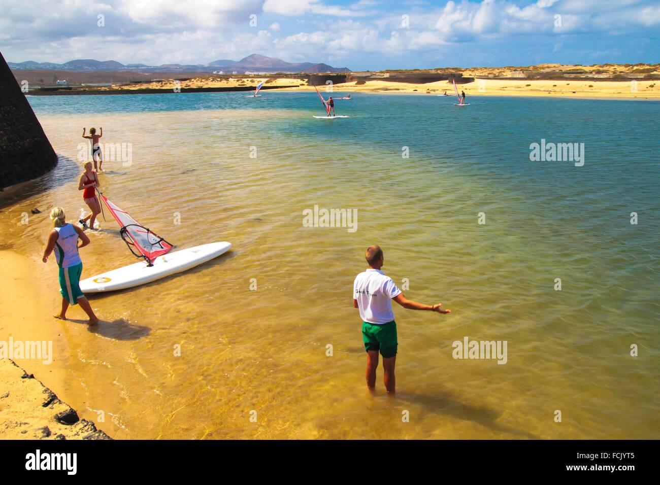 Sports and Leisure activities in La Santa Club in Tinajo municipality. Lanzarote island - Stock Image