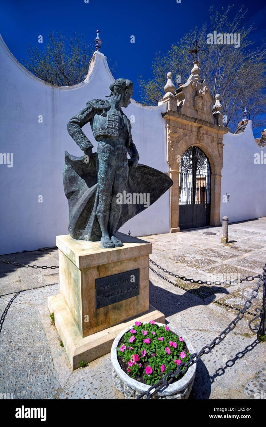 Real Maestranza de Caballeria de Ronda: the bullfight arena in Ronda, Malaga province, Andalusia, Spain - Stock Image