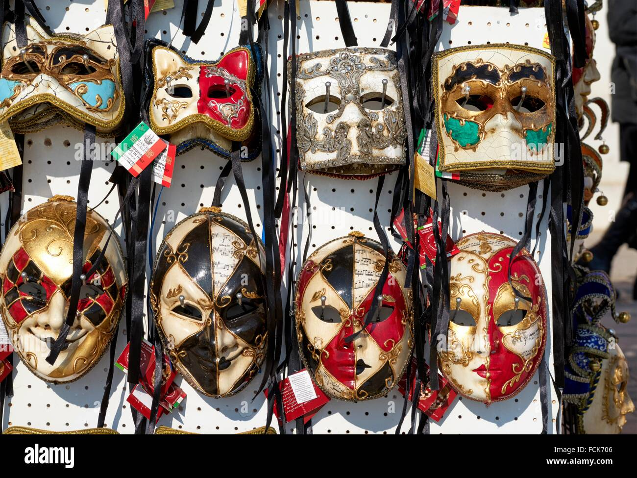 Artistic masks for sale at the Carnival in Venice, Italy Stock Photo