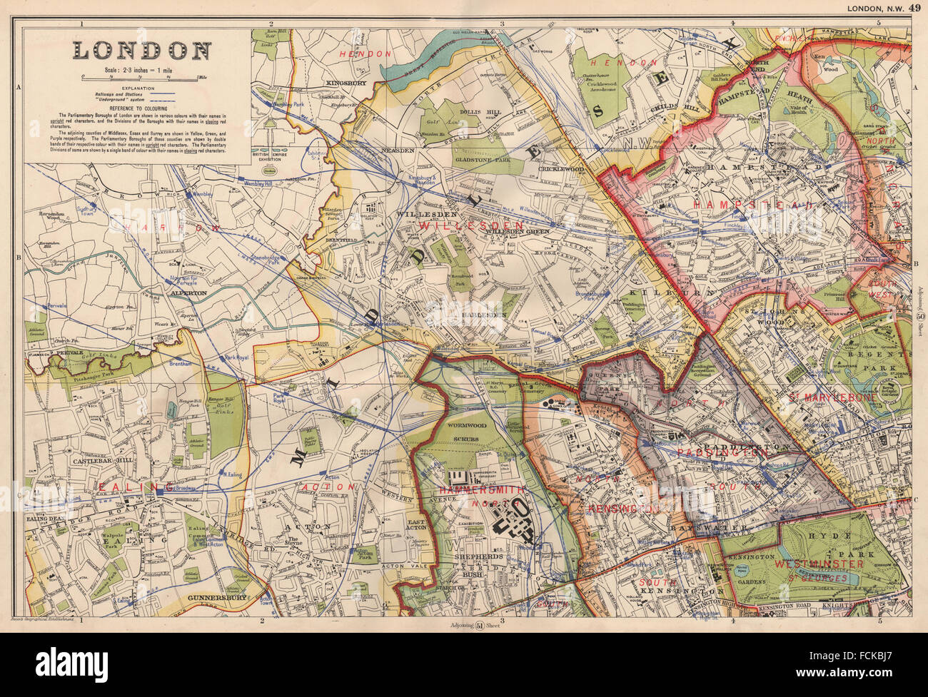 Map North West London.North West London Map Stock Photos North West London Map Stock
