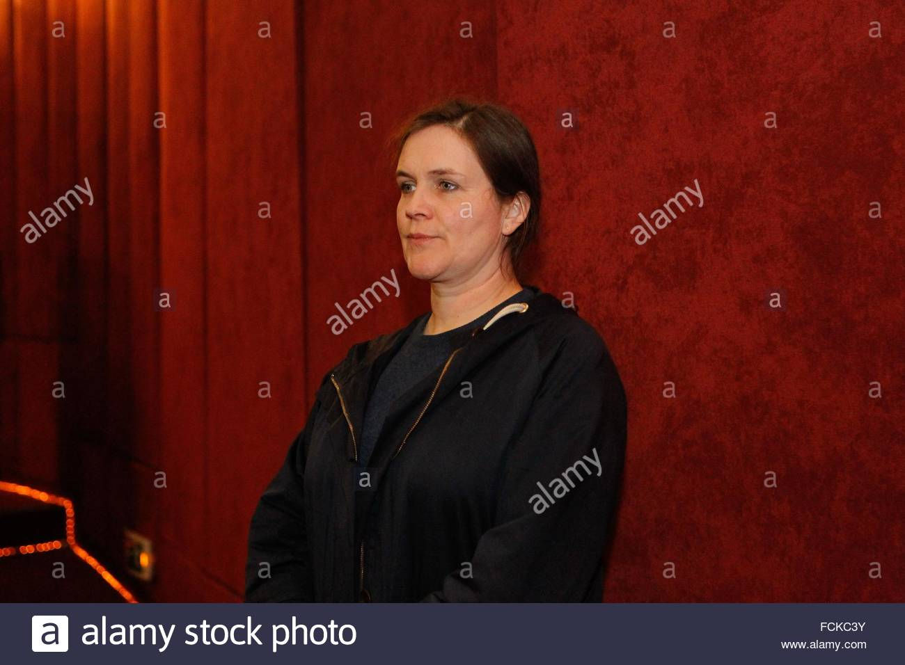 British filmmaker Sophie Fiennes and sister of Ralph Fiennes, introduce her last two documentaries, 'The Pervert´s - Stock Image