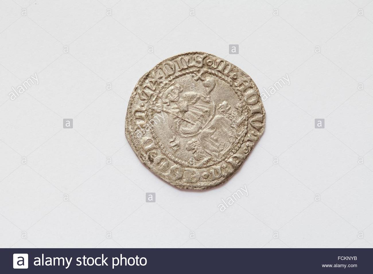 Naples Kingdom, Carlino, Ancient Coin. - Stock Image