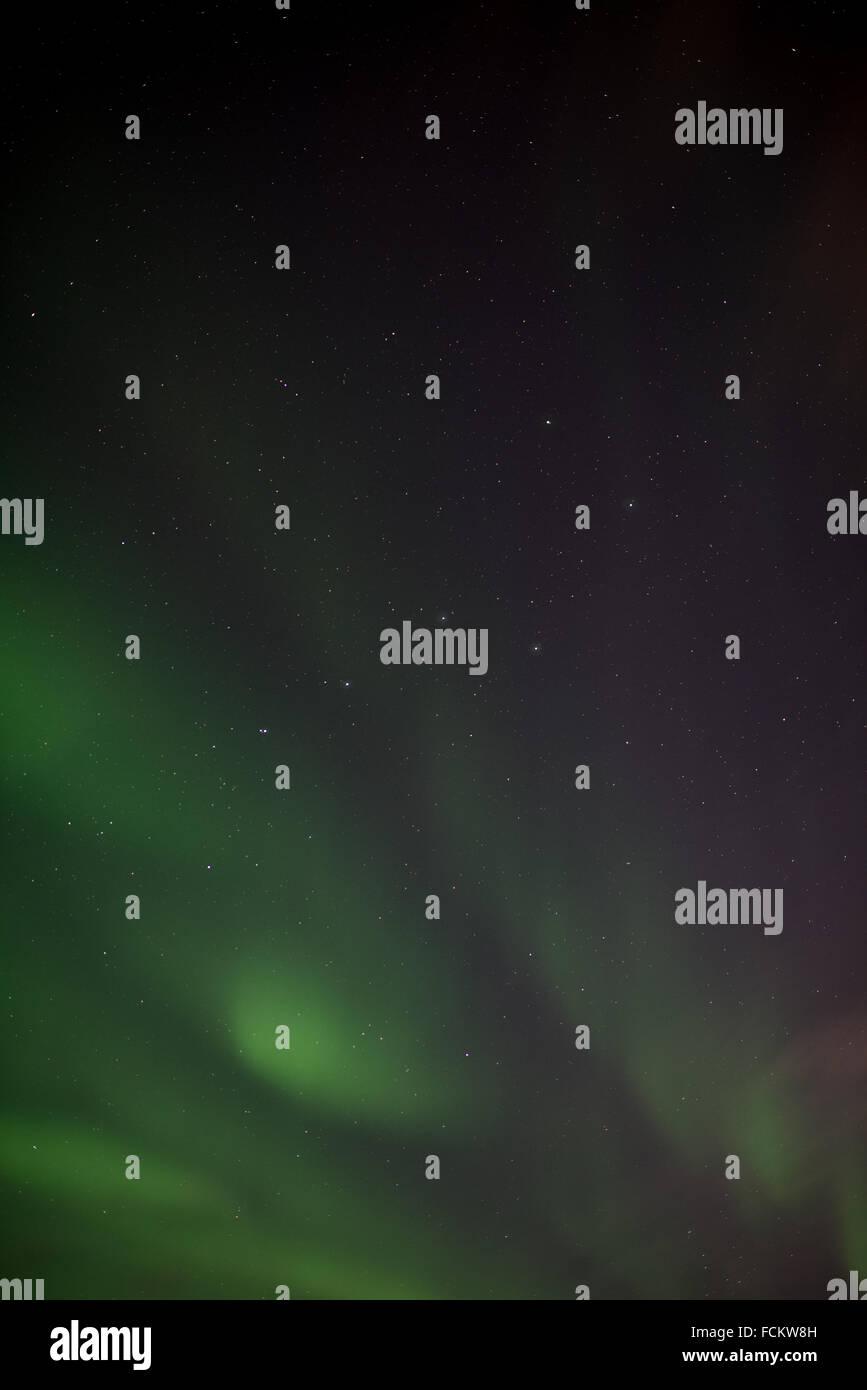 The Plough Constellation with Aurora Borealis - Stock Image