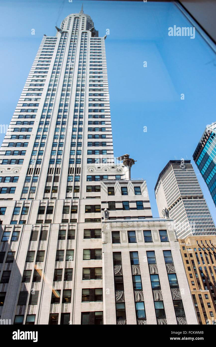 New York, USA. View on the facade of the Chrysler Building, Manhattan, from neighboring offices. - Stock Image