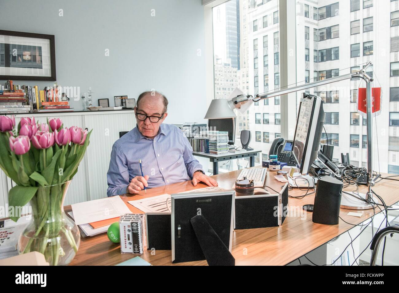 New York, USA. The Dutch Consul General in his office at the Chrysler Building, Manhattan. - Stock Image
