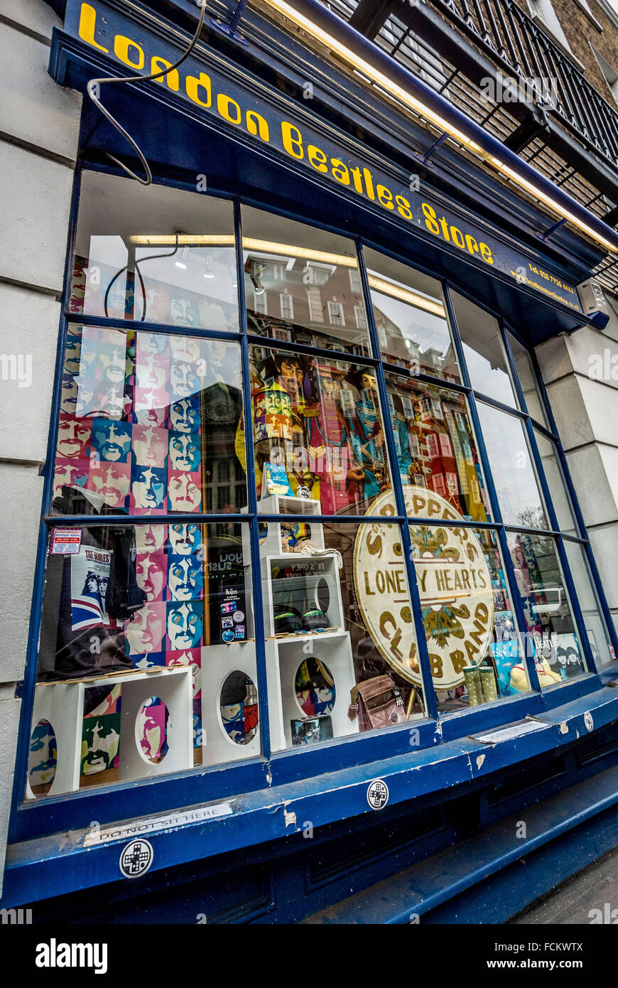 London Beatles Store, London, UK. - Stock Image