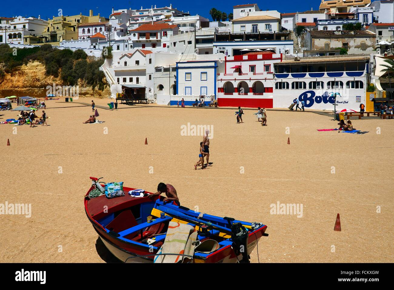 Europe, Portugal, Algarve, Lagoa, Carvoeiro, or more commonly Praia de Carvoeiro - Stock Image