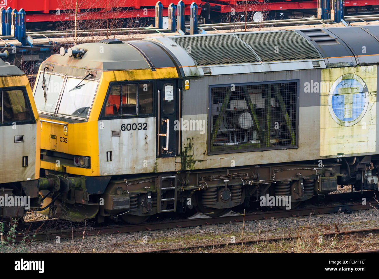 Disused class 60 diesel loco at Toton depot in Nottinghamshire Stock Photo