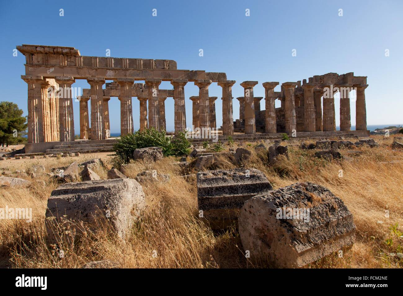 Temple of Hera at Selinunte, the ancient Greek city on the southern coast of Sicily, Italy, Europe. - Stock Image