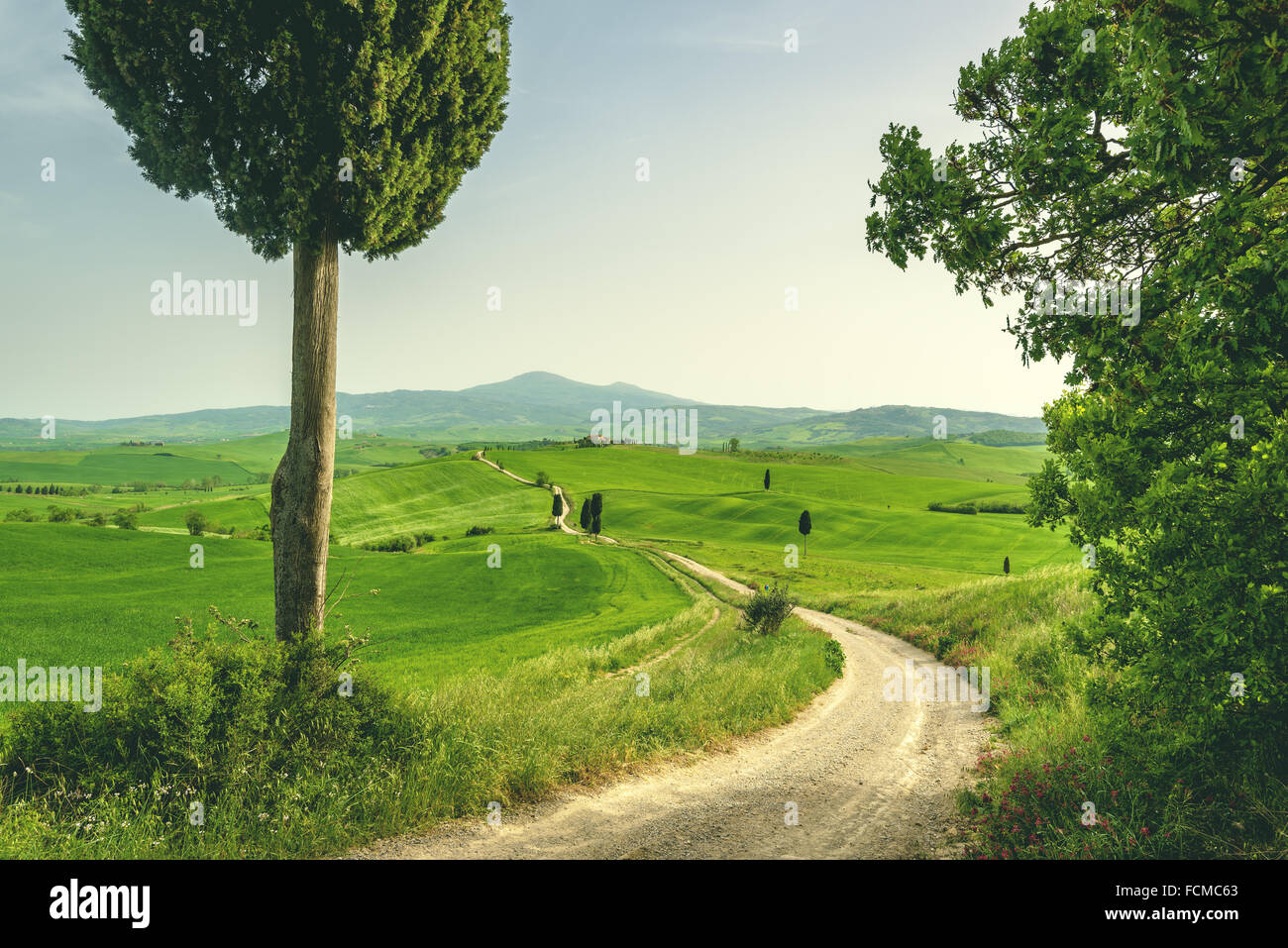 Tuscan place in a rural landscape - Stock Image