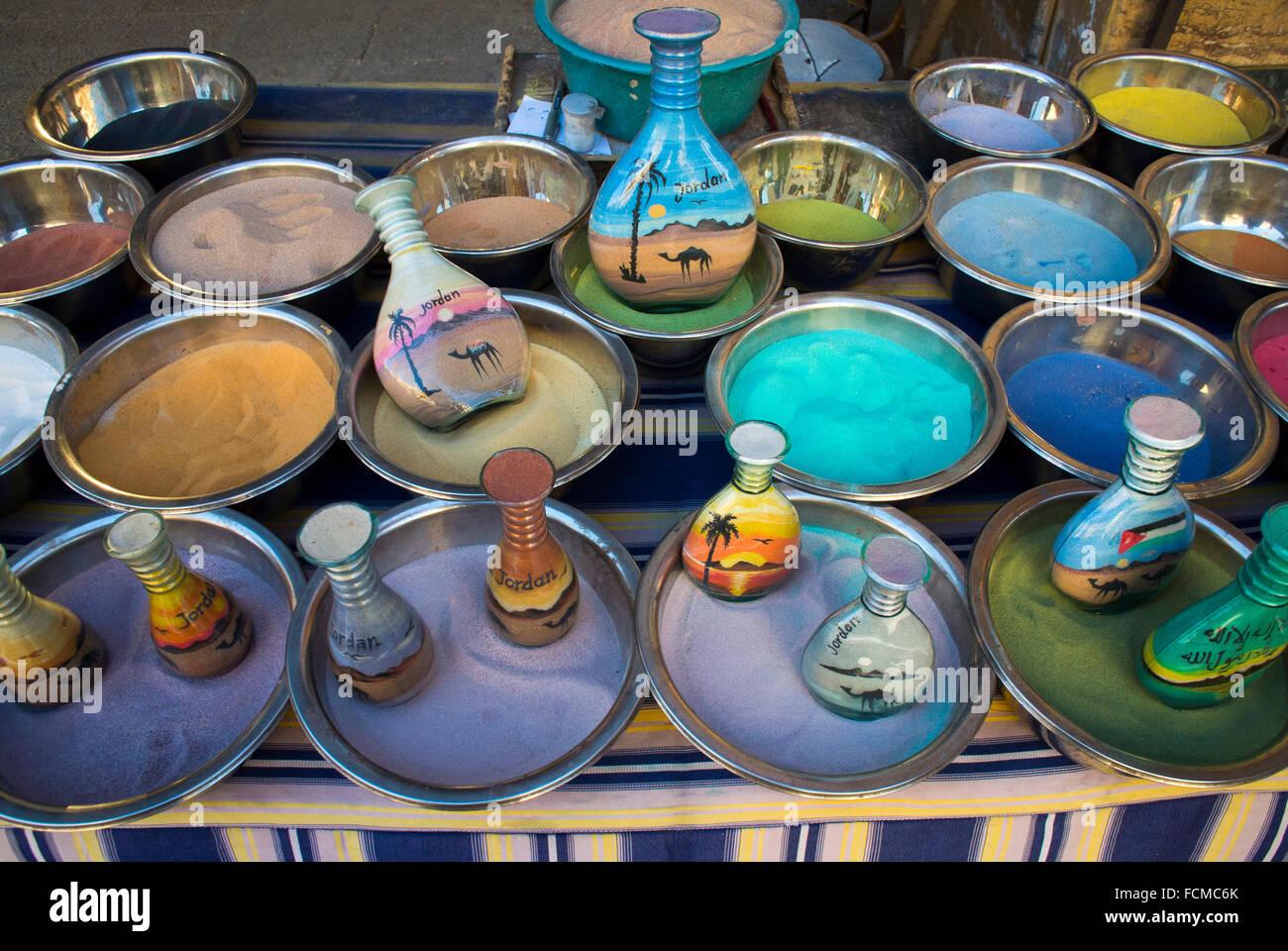 Tourist gifts in Aqaba, Jordan. - Stock Image