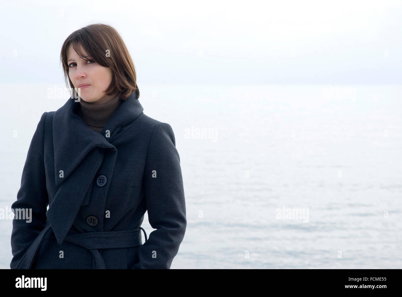 Woman, outdoors - Stock Image