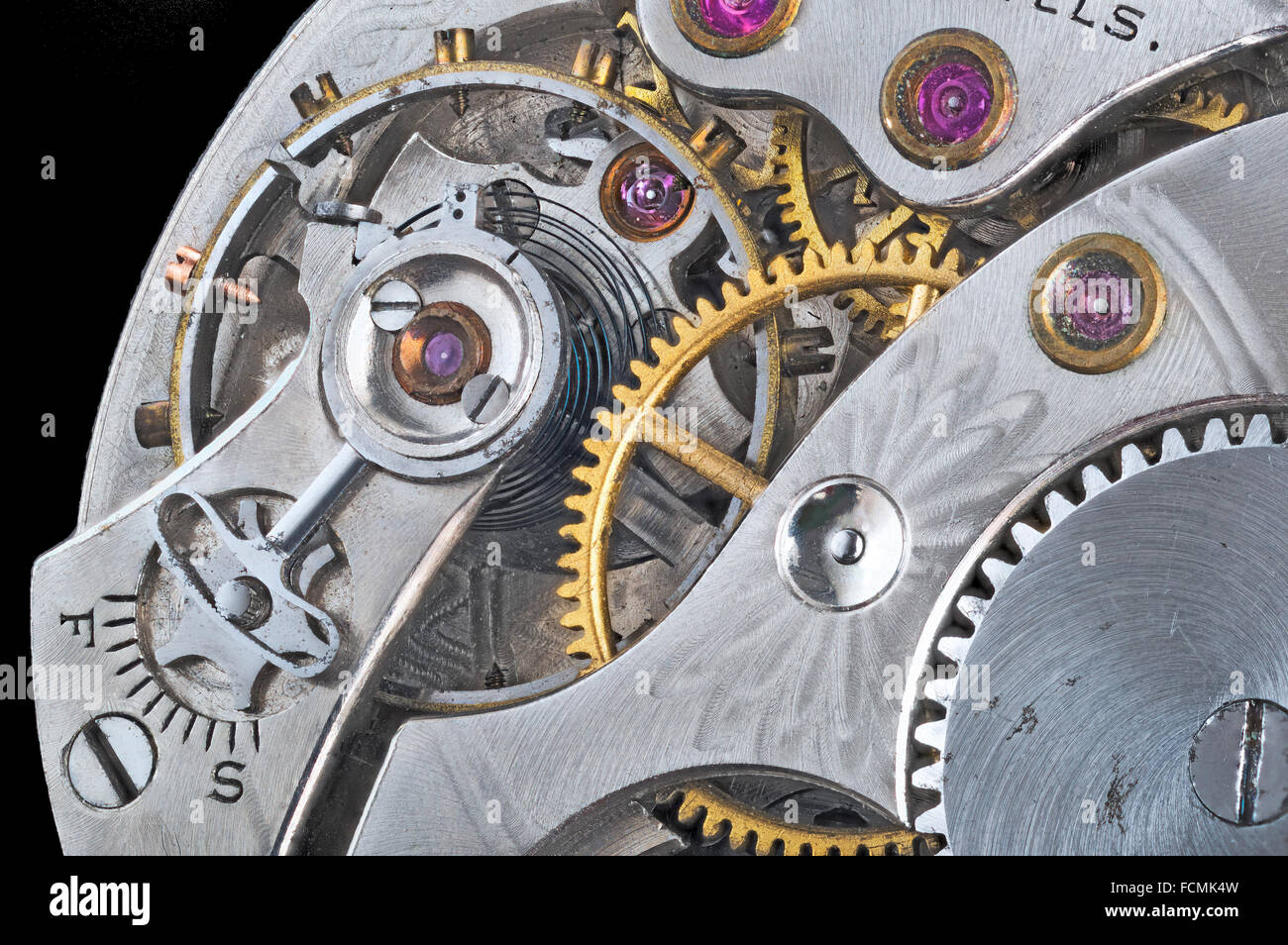 Detail of an old pocket watch - Stock Image