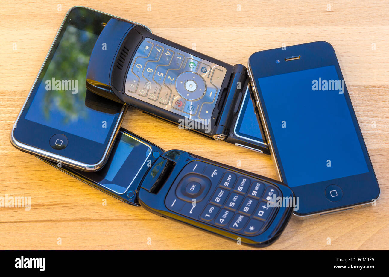 Cell phones - Stock Image