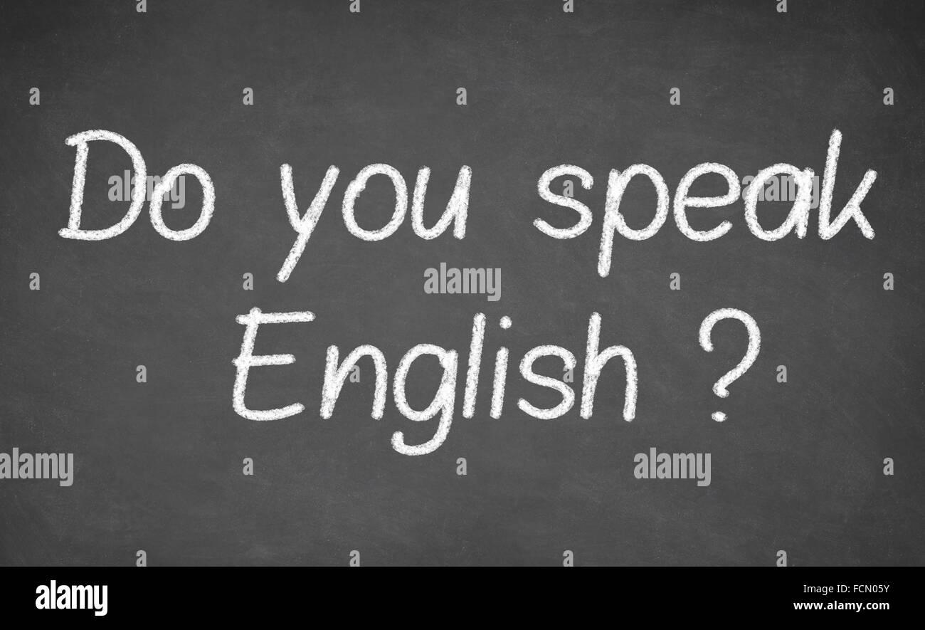 Do you speak english - handwritten - Stock Image