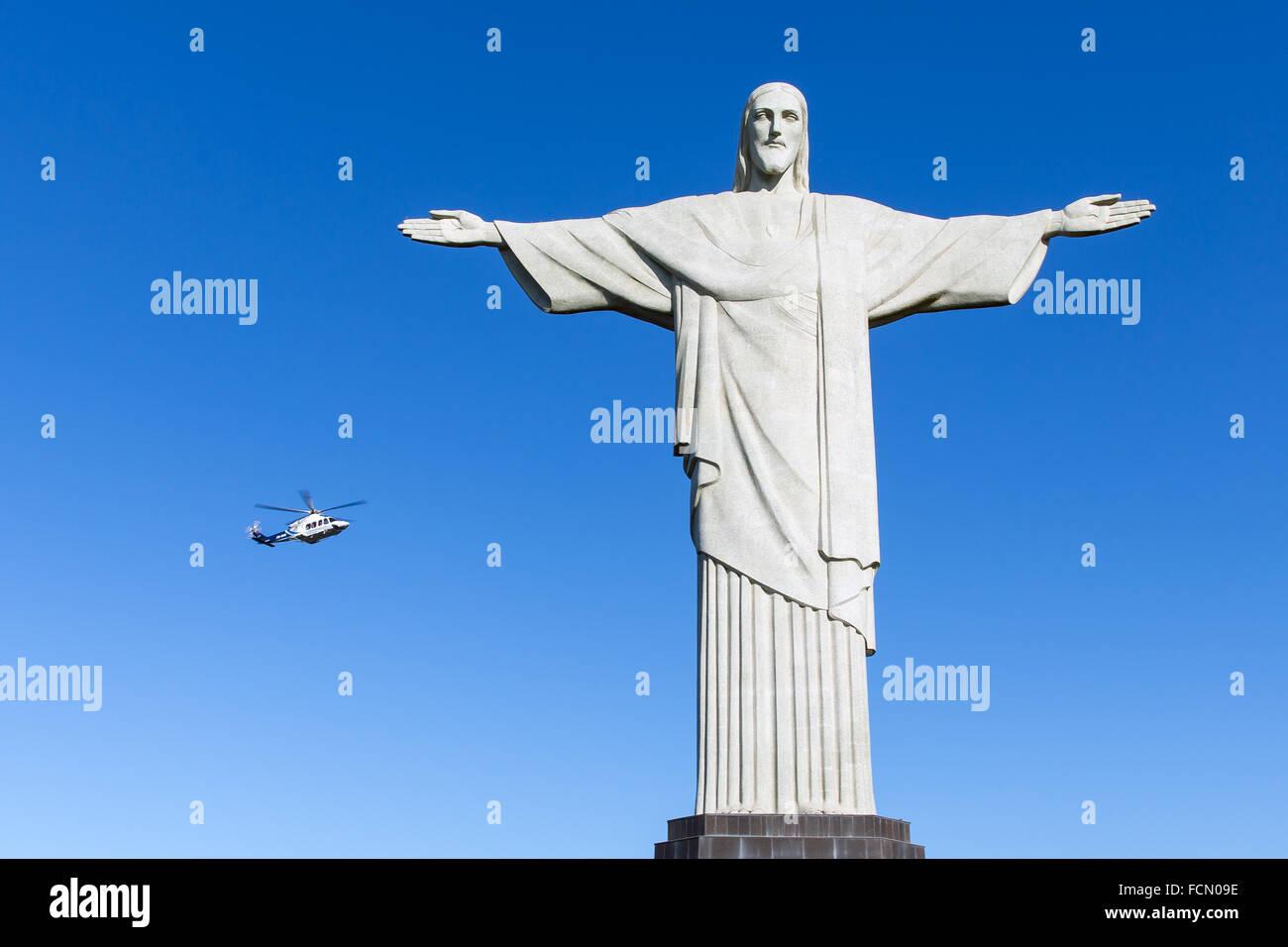 Christ the Redeemer, Rio de Janeiro, South America - Stock Image