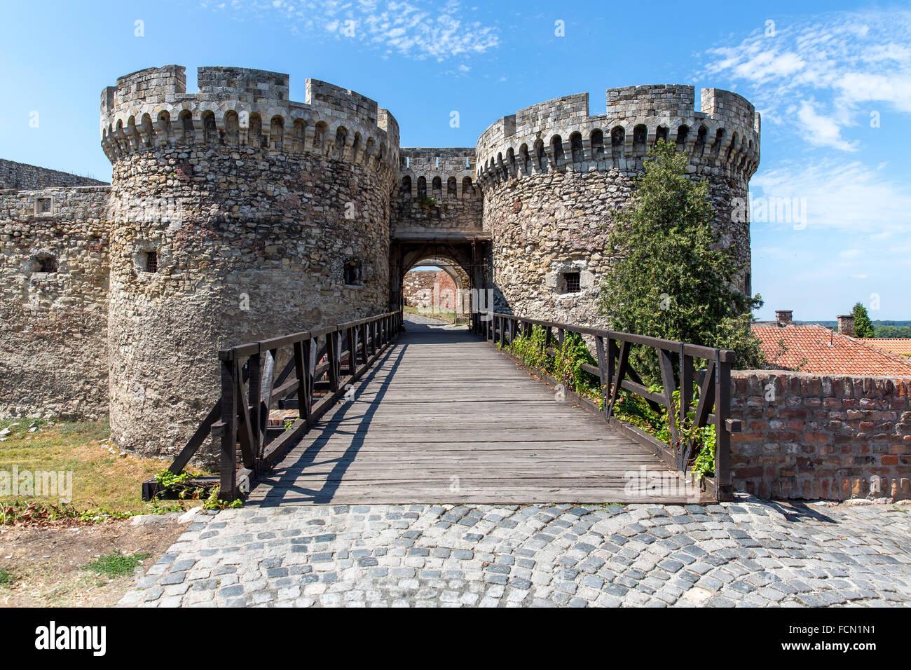 Kalemegdan fortress gate in Belgrade - Stock Image