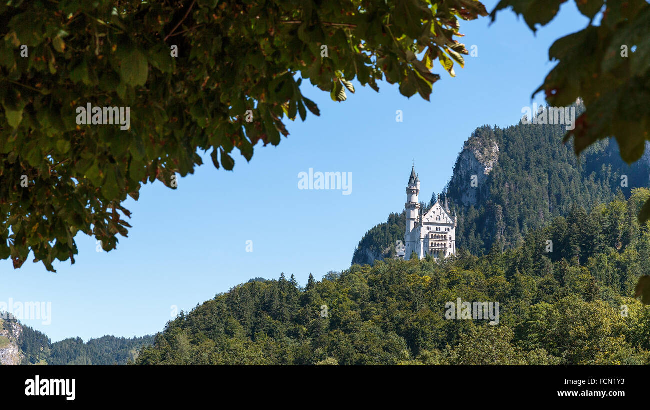Neuschwanstein Castle in Germany - Stock Image