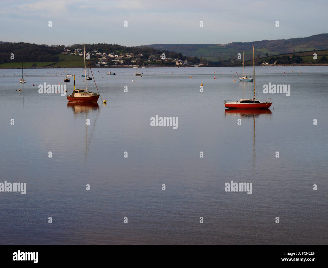 Exe Estuary from Exmouth, Devon, UK - Stock Image