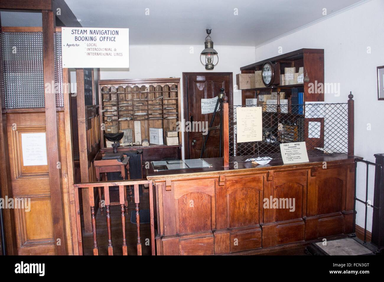 Replica steam navigation office, Flagstaff Hill, Warrnambool, Australia - Stock Image