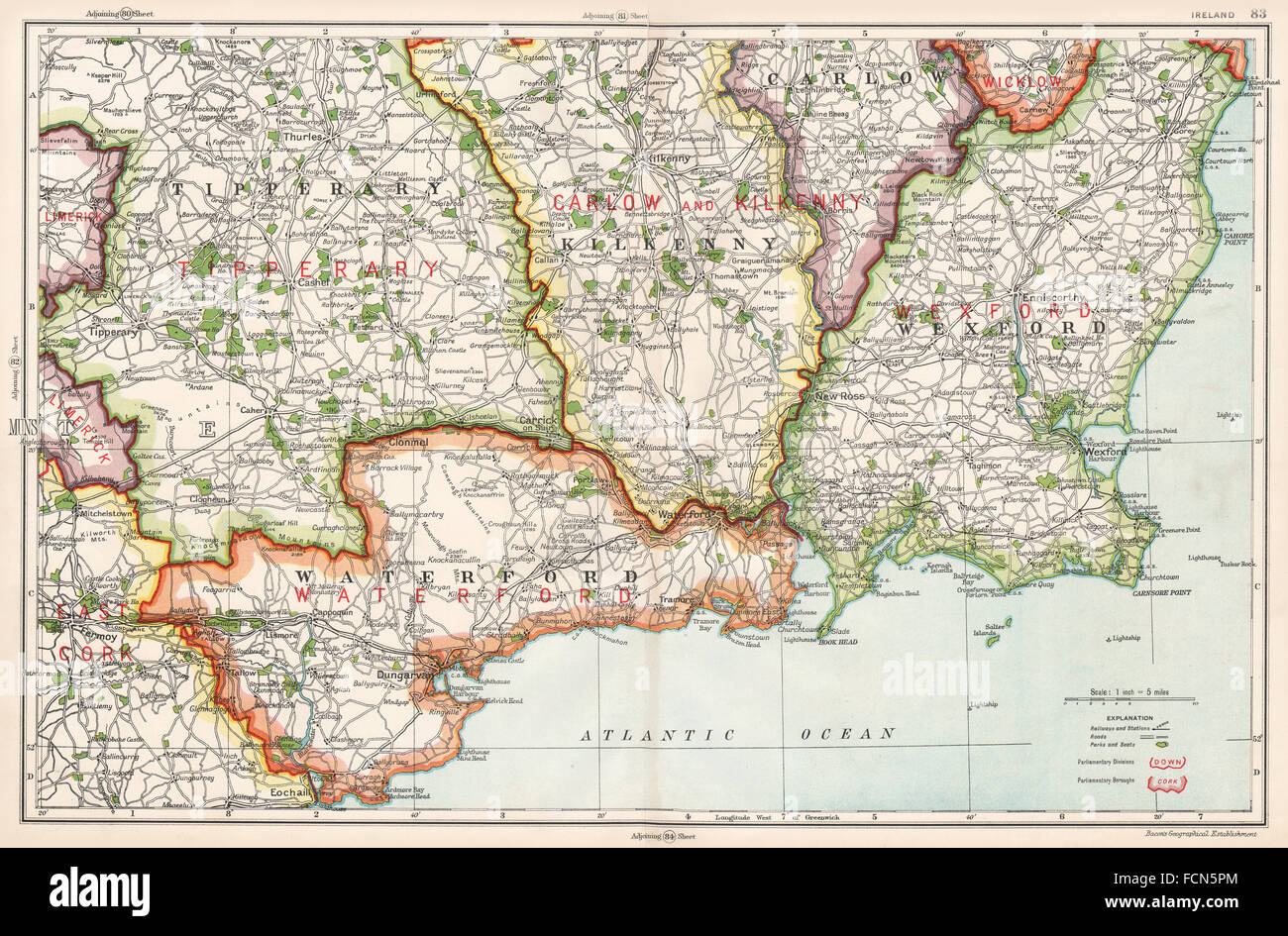 Map Of Ireland Showing Kilkenny.Se Ireland Waterford Wexford Kilkenny Tipperary Constituencies