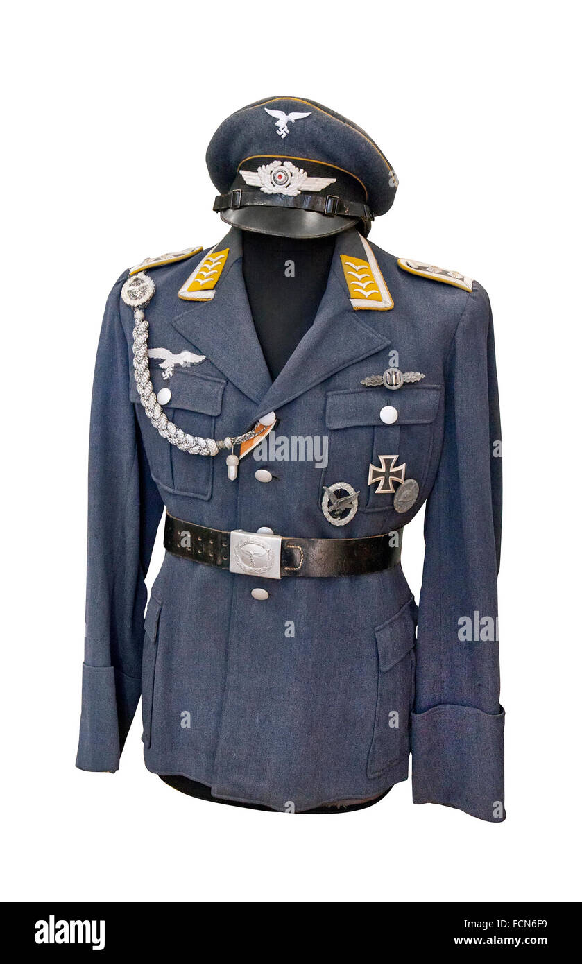 Germany at the WW2. Uniform of staff sergeant of German Air Force - Stock Image