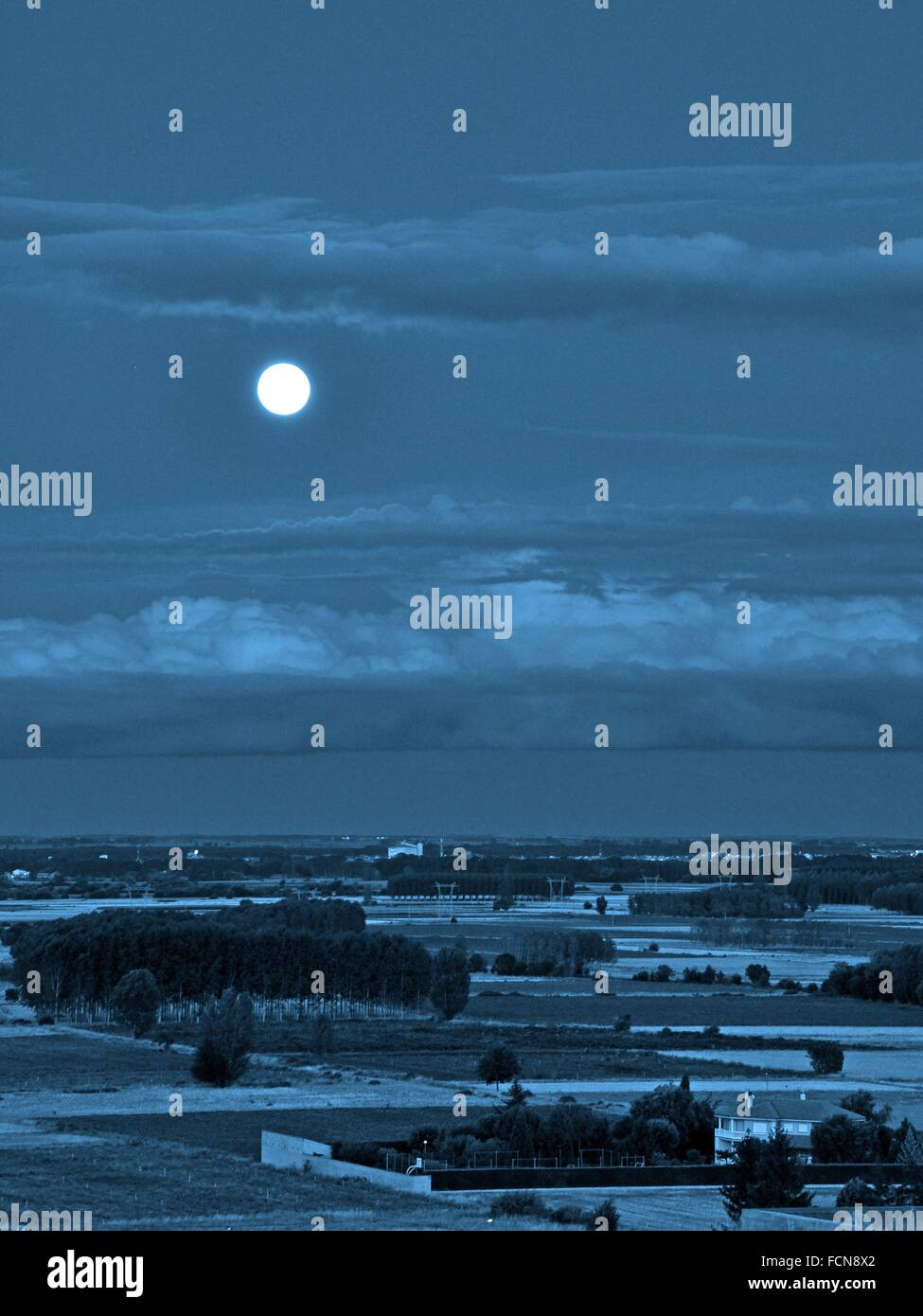 It called Blue Moon (Blue Moon English translation) to the second full moon occurring during the same month of the - Stock Image