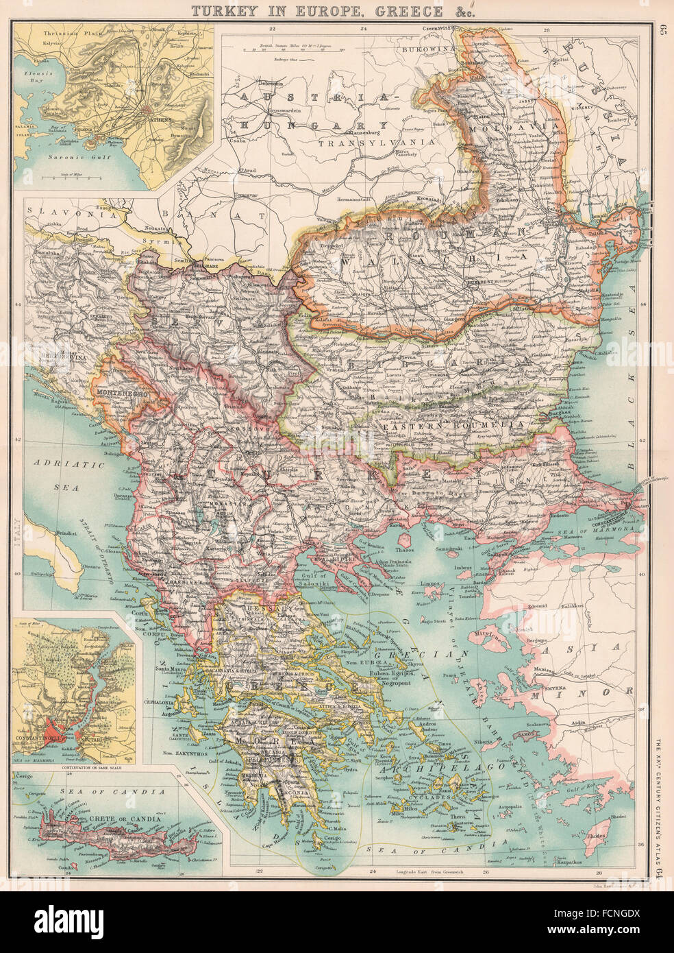 Balkans Turkey In Europe Greece E Roumelia Constantinople Stock