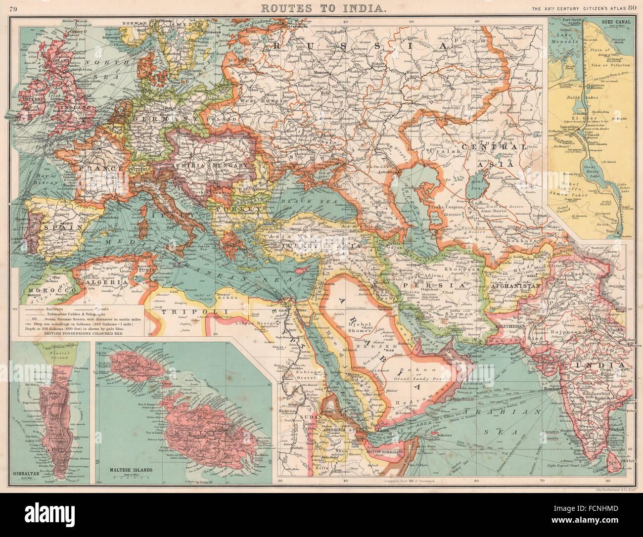 Map Maps Europe Middle East Stock Photos & Map Maps Europe Middle ...