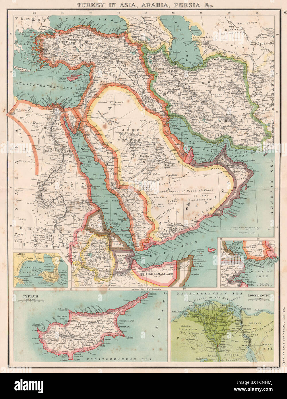 Middle eastturkey asia arabia persiairanegypt omanprus nile middle eastturkey asia arabia persiairanegypt omanprus nile delta 1901 map gumiabroncs Image collections