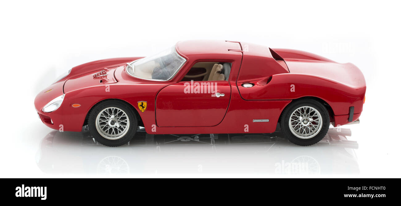 Ferrari 250 Le-Mans on a White Background - Stock Image