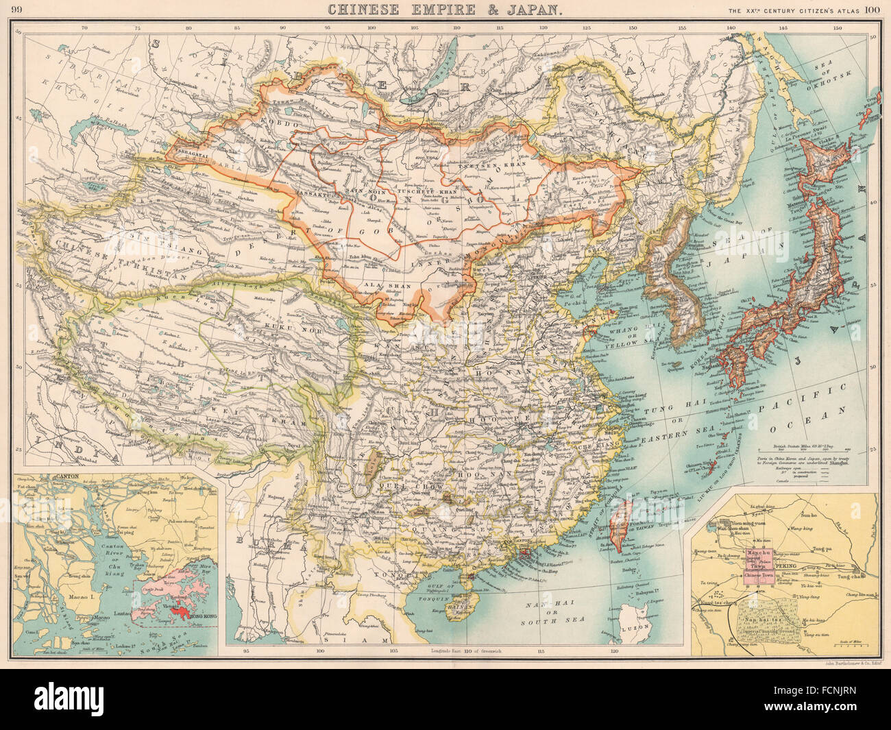 Tibet China Asia Map Stock Photos Tibet China Asia Map Stock