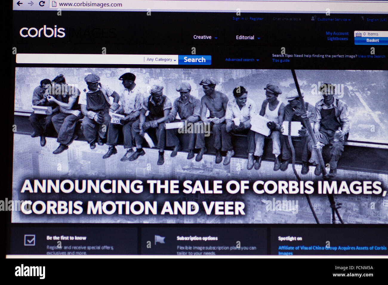 Oxford, UK. 23rd January 2016. Demotix is affected by Corbis sell off. Reports of contributors not being able to - Stock Image