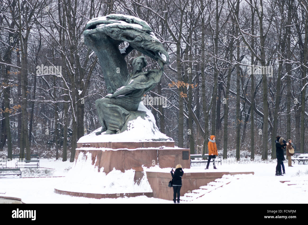 Monument To Frederic Chopin In Winter łazienki Królewskie