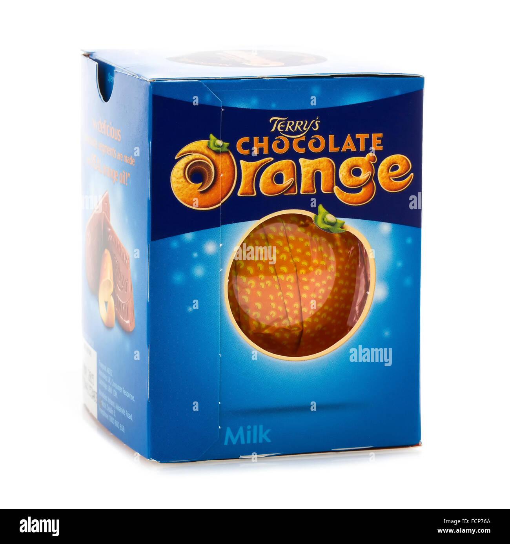 Terry S Chocolate Orange On A White Background Stock Photo 93916322