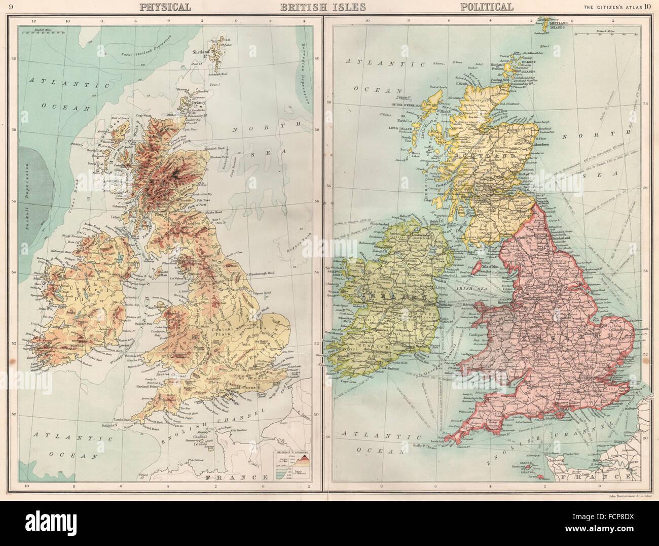 England political map stock photos england political map stock british islesphysical politicalengland ireland scotlandrtholomew 1898 map stock gumiabroncs Choice Image