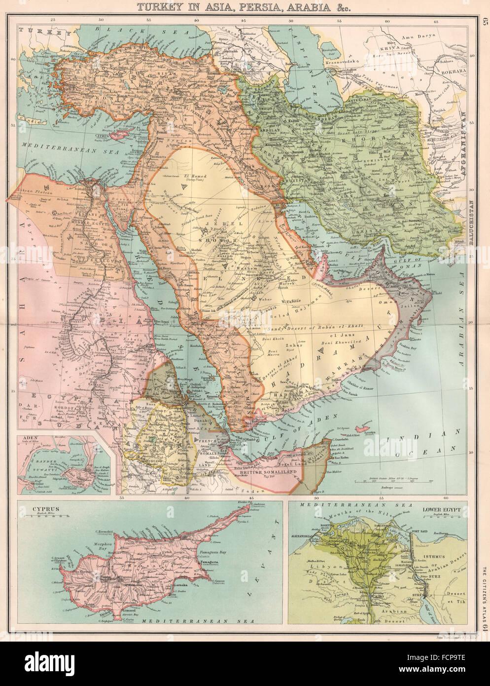Map of egypt and turkey stock photos map of egypt and turkey stock middle eastturkey in asia persiairanarabia cyprus nilertholomew gumiabroncs Choice Image