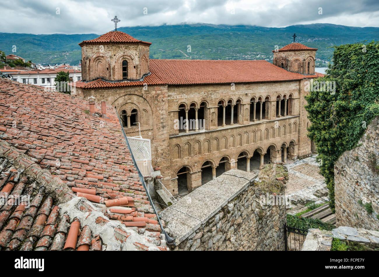 Church of St Sophia (Sveta Sofija), Macedonian Orthodox church in Ohrid, UNESCO World Heritage Site, Republic of - Stock Image