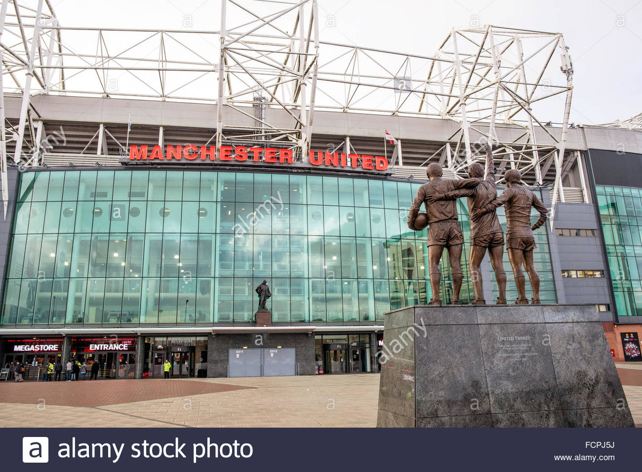 Old Trafford Best Law Charlton Statue - Stock Image