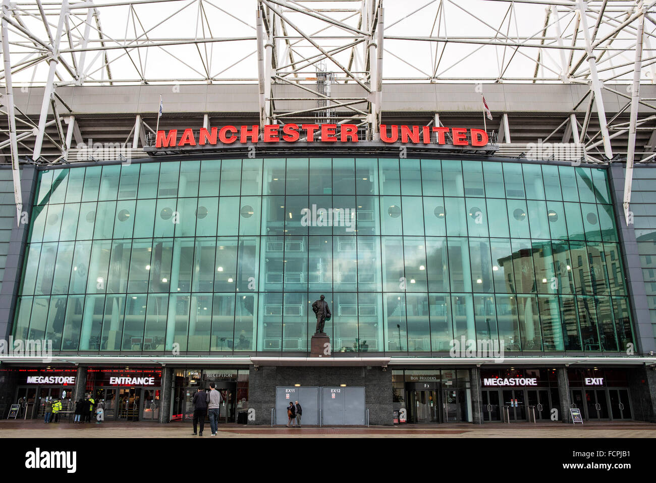 Manchester United Football Stadium Old Trafford - Stock Image