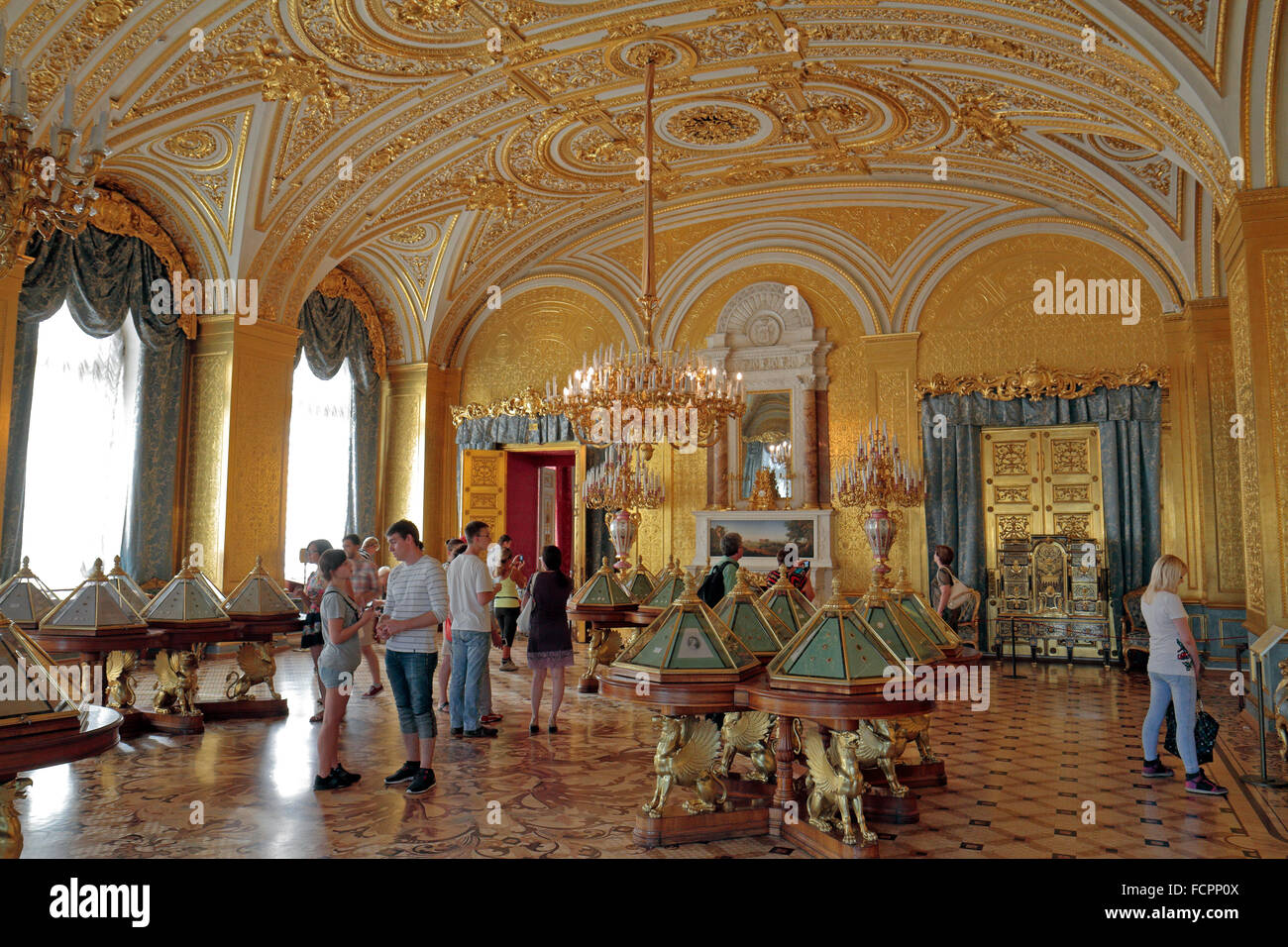 The Gold Room in the State Hermitage museum, St Petersburg, Russia ...