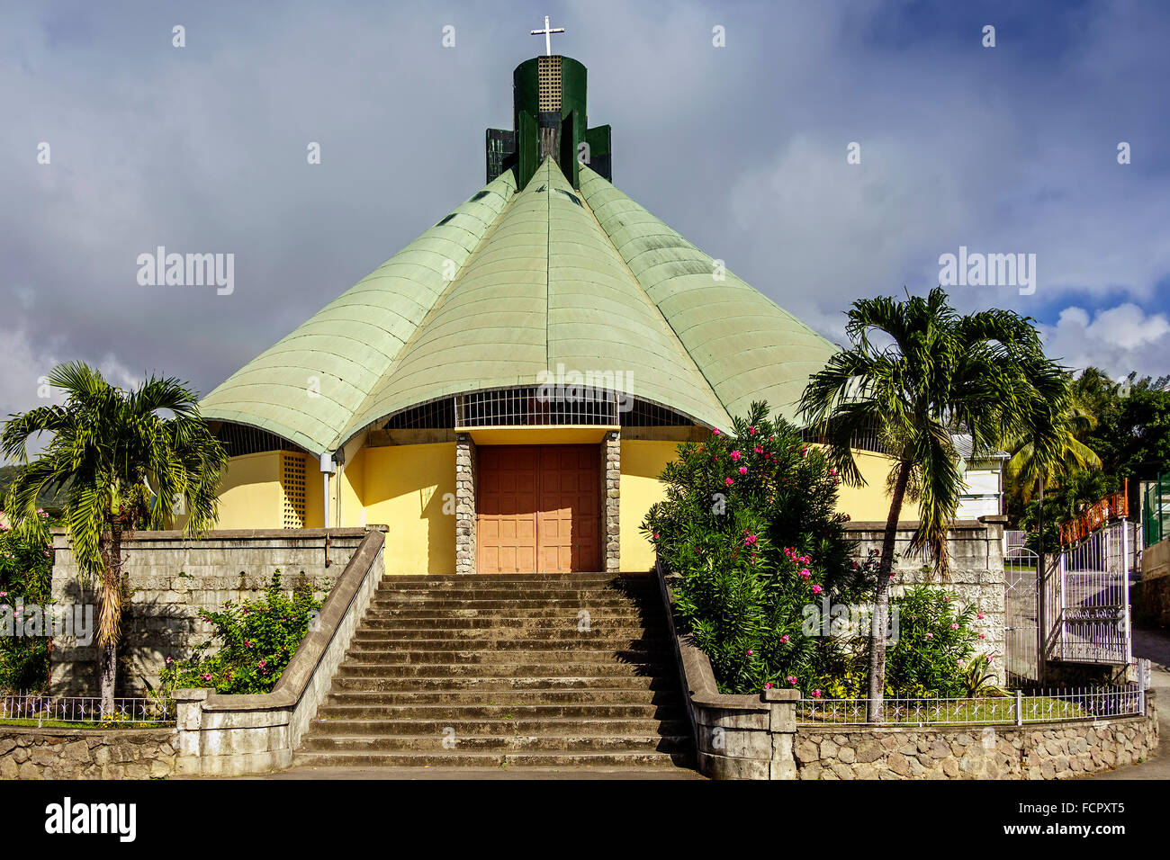 Pottersville Goodwill Church Roseau Dominica West Indies - Stock Image