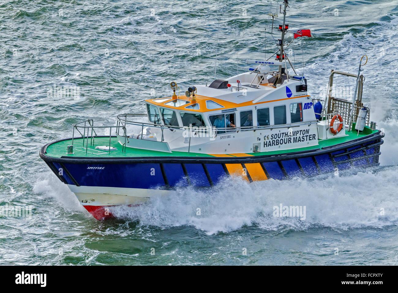 Harbour Masters Boat Southampton Hampshire UK - Stock Image