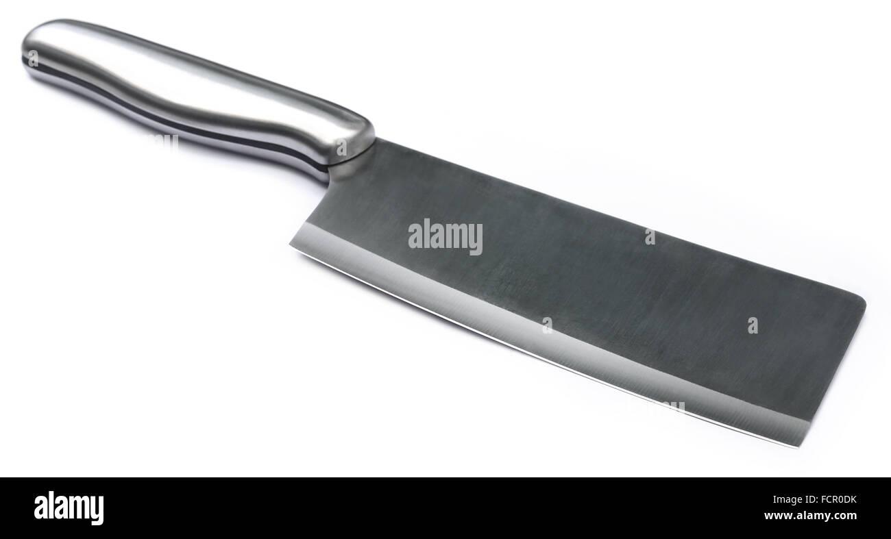 Kitchen knife over white background - Stock Image