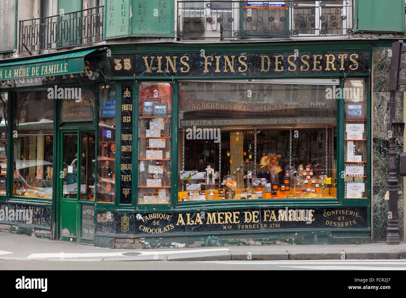A la Mere de Famille, Paris's oldest chocolate shop in the 9th Arrondissement, France Stock Photo