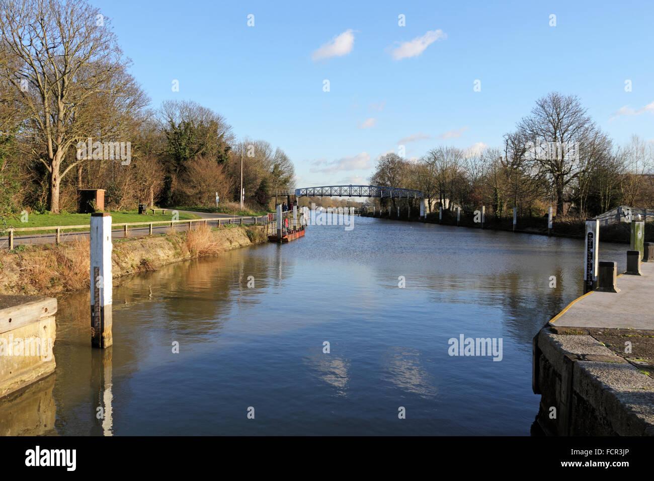 The River Thames at Teddington, London, UK. Stock Photo