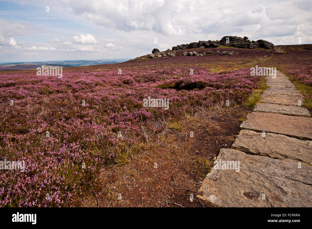 Approaching Back Tor from Lost Lad in the Peak District National Park - Stock Image