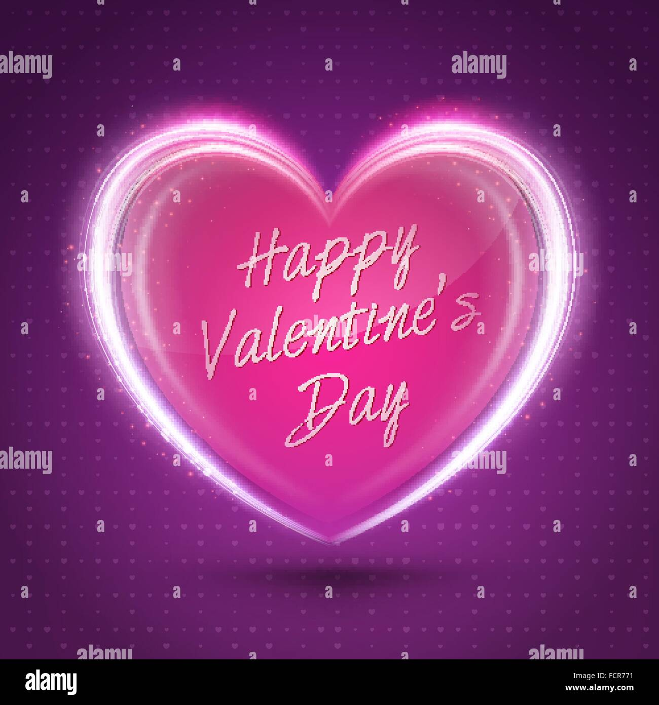 Valentines Day Abstract Background Romantic Vector Illustration For