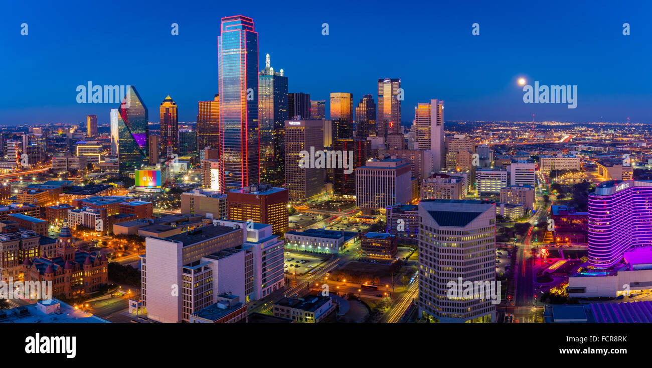 Dallas is the ninth most populous city in the United States of America and the third most populous city in the state Stock Photo